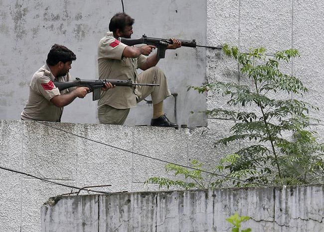 Indian security forces in action