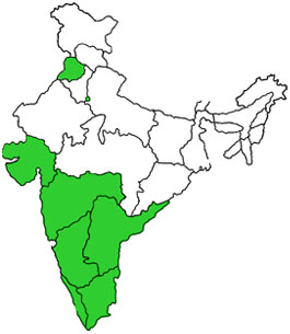 Map shows Indian states that have done Deceased Donation Transplantation in India