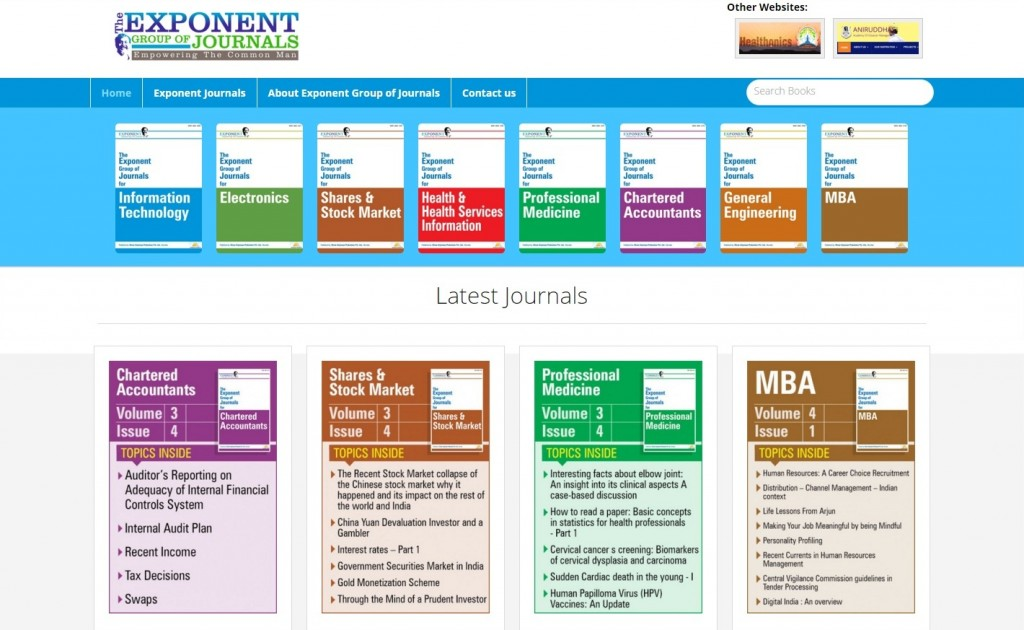Exponent Group of Journals