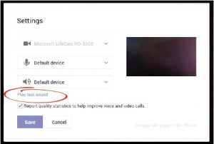 Hangout Settings Window