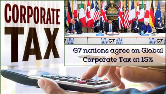 G7 nations agree on Global Corporate Tax at 15%