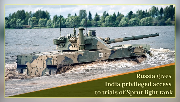 Russia allows India privileged access to trials of Sprut light tanks