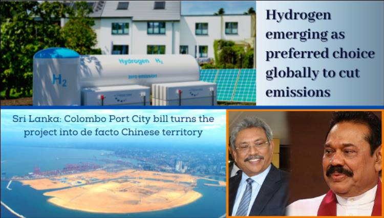 Hydrogen is emerging as preferred choice globally to cut emissions; Sri Lanka is turning into a Chinese colony