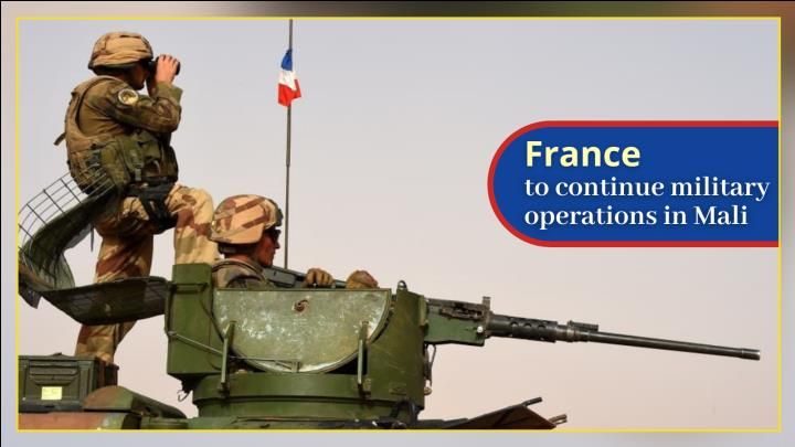 France to continue military operations in Mali