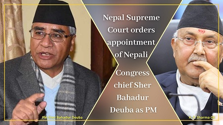 Nepal Supreme Court orders appointment of Sher Bahadur Deuba as PM