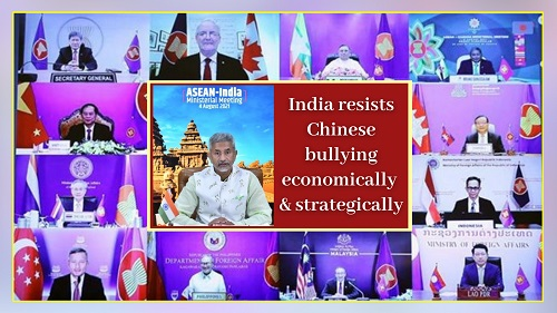 India resists chinese bullying economically and strategically