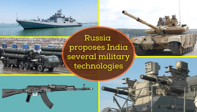 Russia proposes India several military technologies