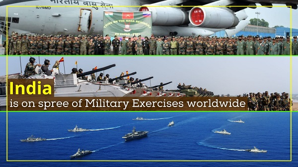 India on a spree of Military Exercises worldwide
