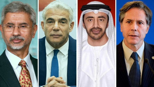 Second Quad: Foreign ministers of the US, Israel, UAE and India held a virtual joint meeting.